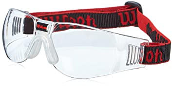 Wilson Omni Gafas de Squash, Unisex, Negro/Rojo, Talla Única ...