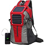 ECEEN External Frame Backpack with 5 Watts Solar Charger & Battery Pack for iPhone iPad iPods Android Smart Phones Perfect for Hiking Camping Trekking Fishing Emergency and Outdoor Sports