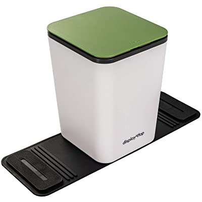 Display4top Auto Car Trash Can Bin Waste Container Plastic with lid,Leakproof Vehicle Trash Bin,3L/0.8 Gallon (Green): Automotive
