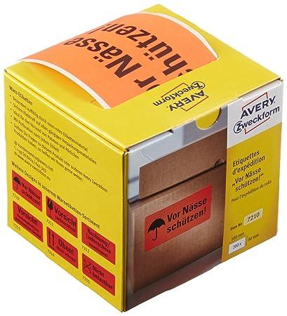 Avery 7210 Rojo Etiqueta para impresora autoadhesiva ...