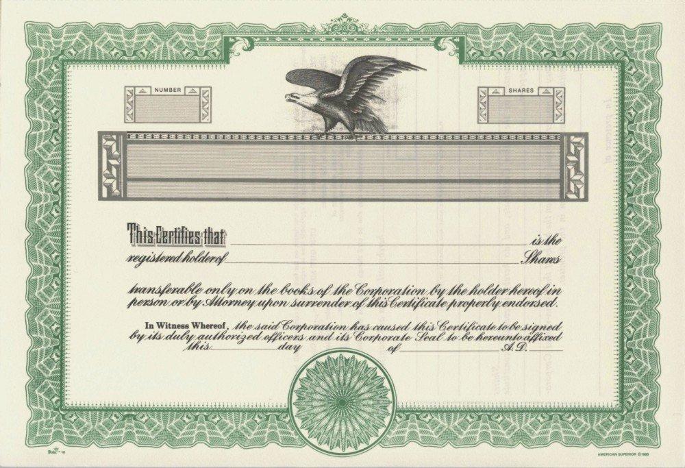 Duke 10 Stock Certificates (Pack of 15)