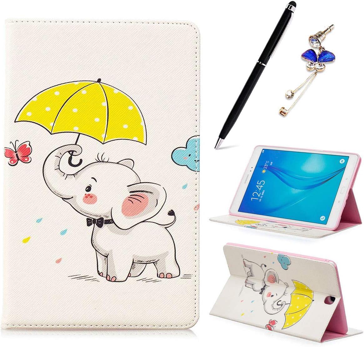 Umbrella Iconne - Funda para Samsung Galaxy Tab A SM-T550 T551 T555 de 9,7 pulgadas (piel sintética, cierre magnético)