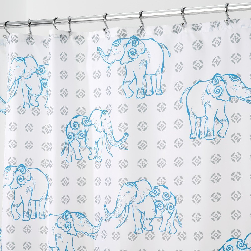 mDesign Be Awesome Fabric Shower Curtain, 72
