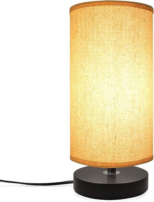 LED Lampara Mesa Escritorio de mesa de escritorio de la mesita de noche regulable - bombilla de la lámpara E27 Blanco cálido incluido, Luz de lectura para cualquier habitación: Amazon.es: Iluminación