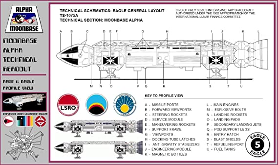 Space 1999 Eagle Schematics - Complete Wiring Diagrams • on death star schematics, bsg 75 schematics, starship deck plans and schematics, andromeda ascendant schematics, electrostatic levitation schematics, colonial viper schematics, star wars schematics, babylon 5 schematics, battlestar pegasus schematics, spaceship schematics,