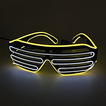 Zwei gemischte Farbe EL Draht Gläser LED-Licht bis Rave Party Brille ...