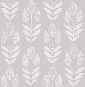 Chesapeake 3115-24473 Garland Dove Block Tulip Wallpaper