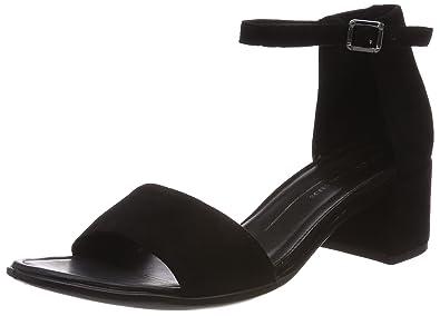 Ecco Shape 35, Sandales Bout Ouvert Femme, Noir (Black), 42 EU