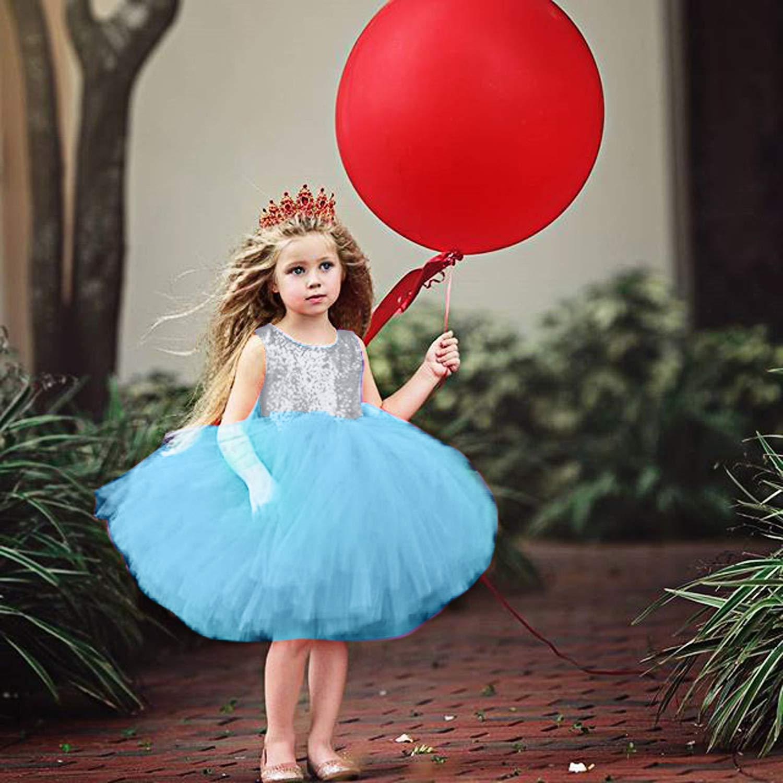 Baby Girl Tutu Vestido Fiesta de cumplea/ños Bautismo Formal Vestidos de Fiesta de Encaje Vestidos de /ángel