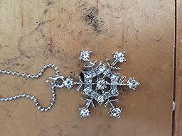 Amazon.com: Silver Tone Cz Bridesmaid Snowflake Necklace