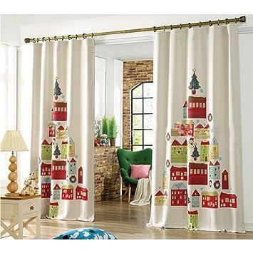 Gardinen Weihnachten.Gwell Kinderzimmer Gardinen Vorhang Weihnachten ösenschal Dekoschal