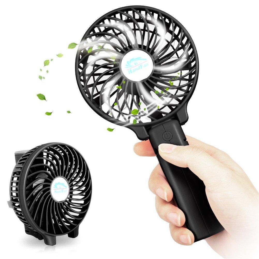 DSIKER Ventilador Plegable Ventilador de Mano Ventilador Silencioso Mini Ventilador Con Cable de Datos Usb con 3 velocidades 2000mAh LG Batería Recargable ...