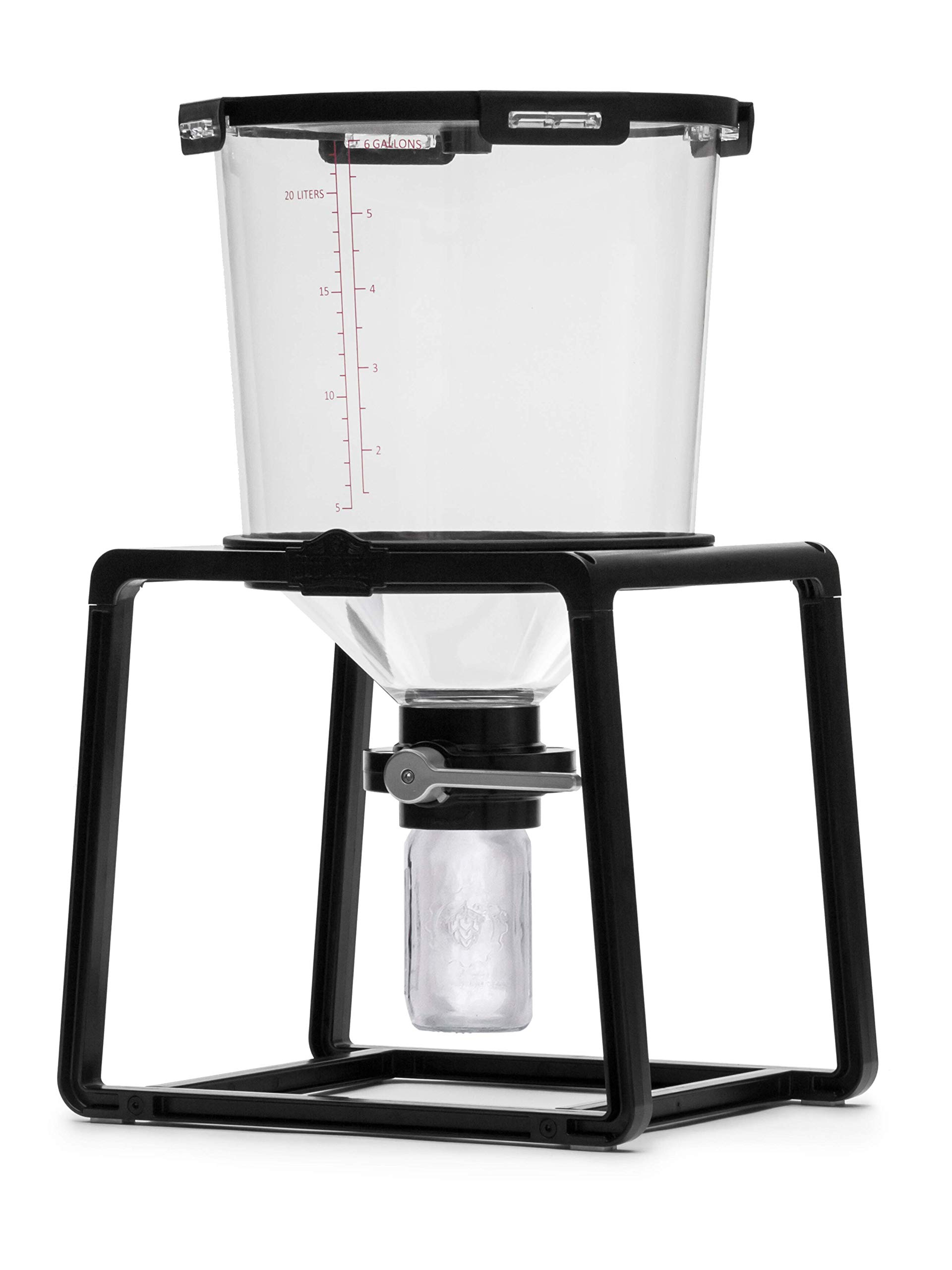 Craft A Brew - BE-CAT The Catalyst Fermentation System, Craft a Brew, 6.5 gal Conical Fermenter for Beer Home Brewing and Wine Making