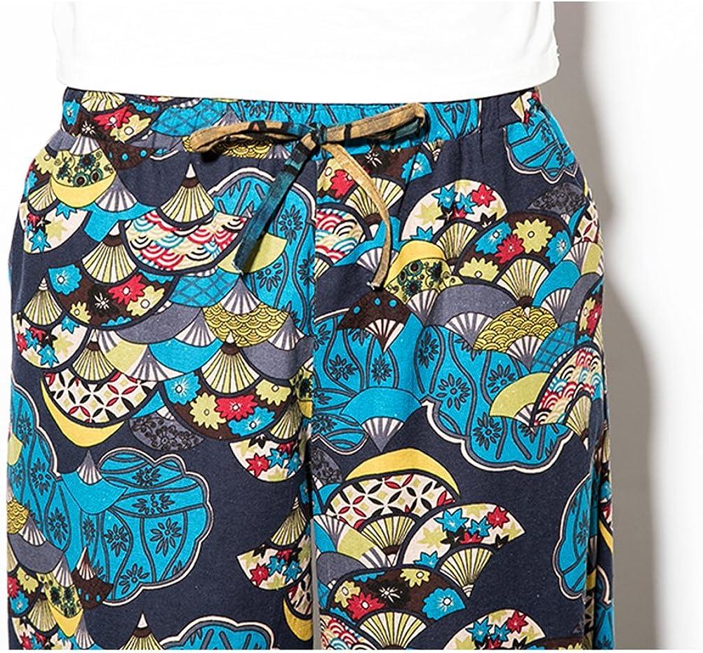 Zhuhaitf Pantalones para Hombre algodón harén Pantalones Hippie ...