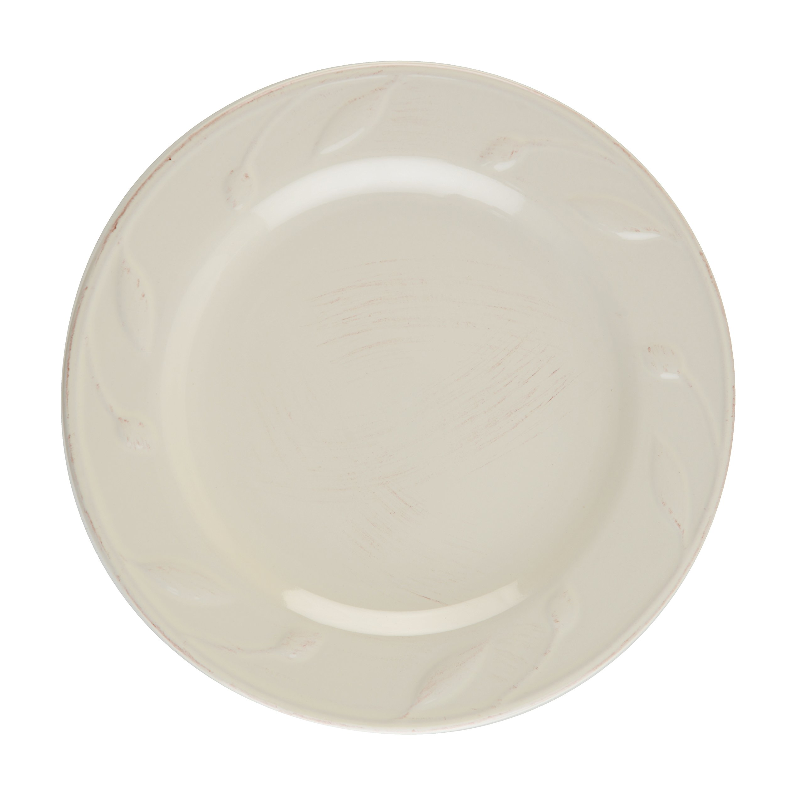 Signature Housewares Sorrento Collection Set of 4 Salad Plates, 8-Inch, Ivory