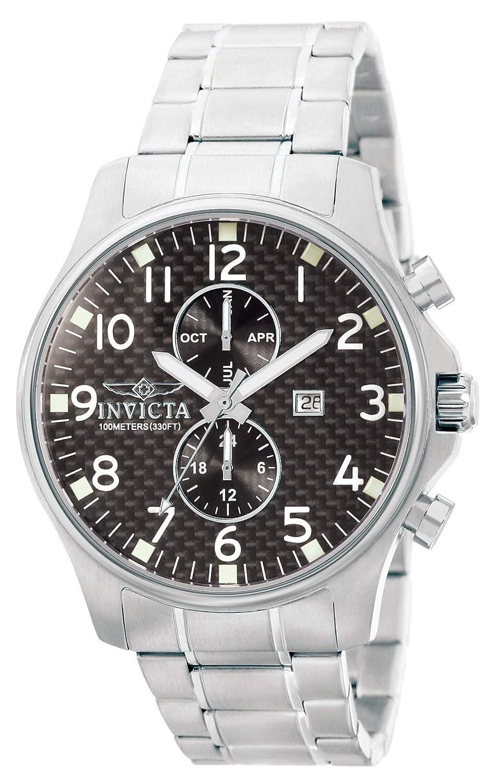 Invicta 0379 Specialty Reloj para Hombre acero inoxidable Cuarzo Esfera negro: Amazon.es: Relojes