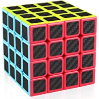 cfmour Speed Cube 4x4x4,Smooth Magic Carbon Fiber Sticker