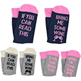 3 Paar Socken Damen If You Can Read This Bring Me Some Wine Lustiges Geschenk