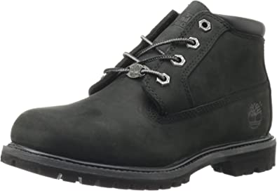 Details about Womens Timberland Nellie Chukka Waterproof Black Leather Ankle Boots Size