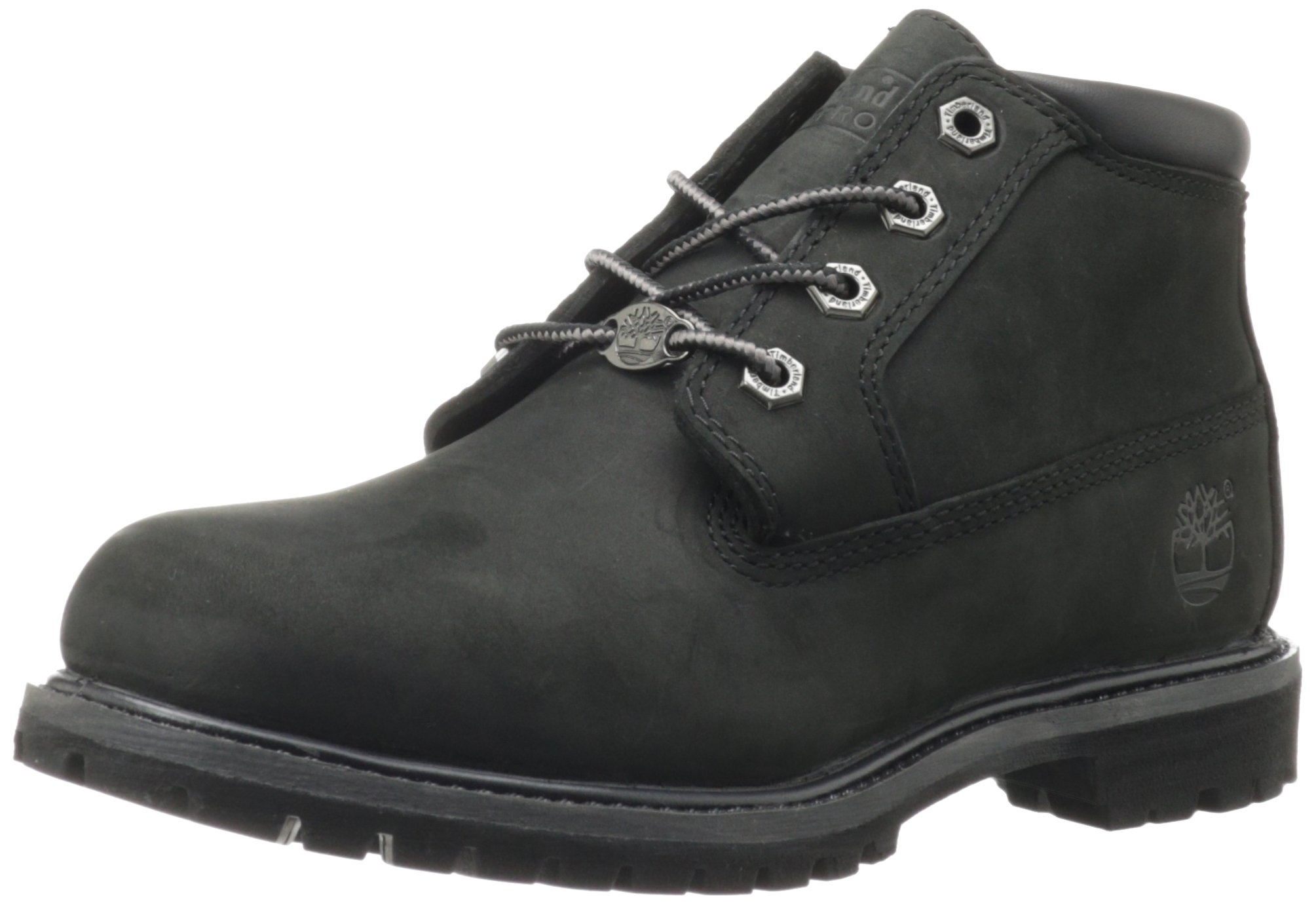 Timberland Women's Nellie Double WP Ankle Boot,Black,8.5 M US by Timberland