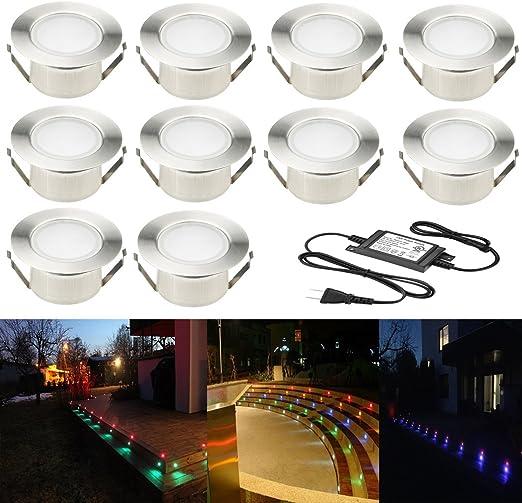 60MM BLUE LED DECK LIGHTS DECKING GARDEN LIGHTING KITCHEN PLINTH BATHROOM MOOD