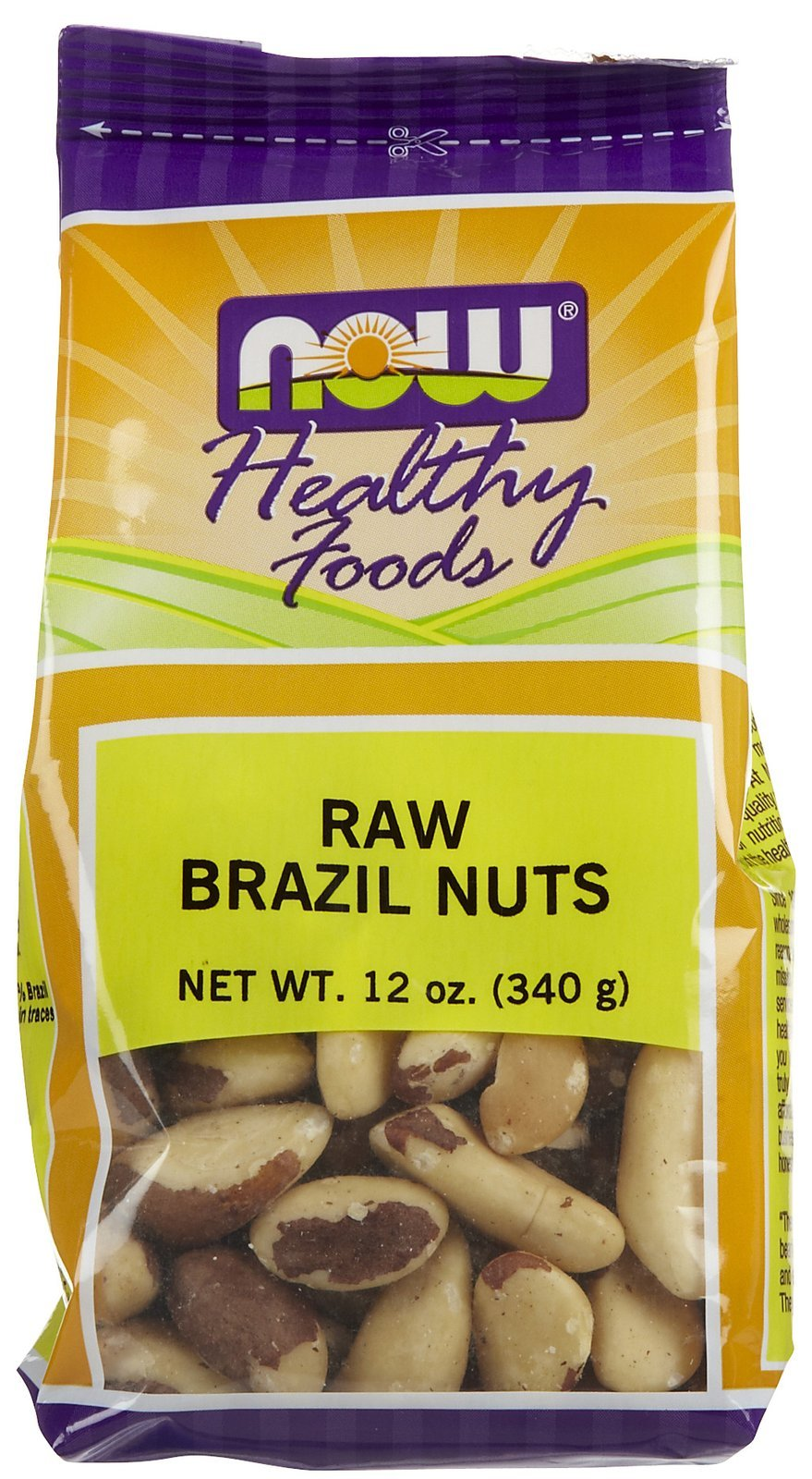 Brazil Nuts, Raw 12 oz, From NOW ( 2-Pack)