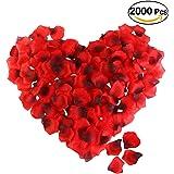 ROSENICE Silk Rose Petals 2000 Pcs Red Artificial Flower Petals for Valentine Wedding Partys Decoration