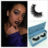 e075942bbb8 Miss Kiss 3D Mink Lashes Reusable Strip,100% Siberian Mink Fur False  Eyelashes Hand-made Natural Style Cruelty Free 1 Pair Eye Lash Package