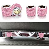 Bling Car Decor Headrest Collars,Jewelry for Your Car,Diamond Crystal Car Seat Headrest Interior Decoration Charms (Pink…