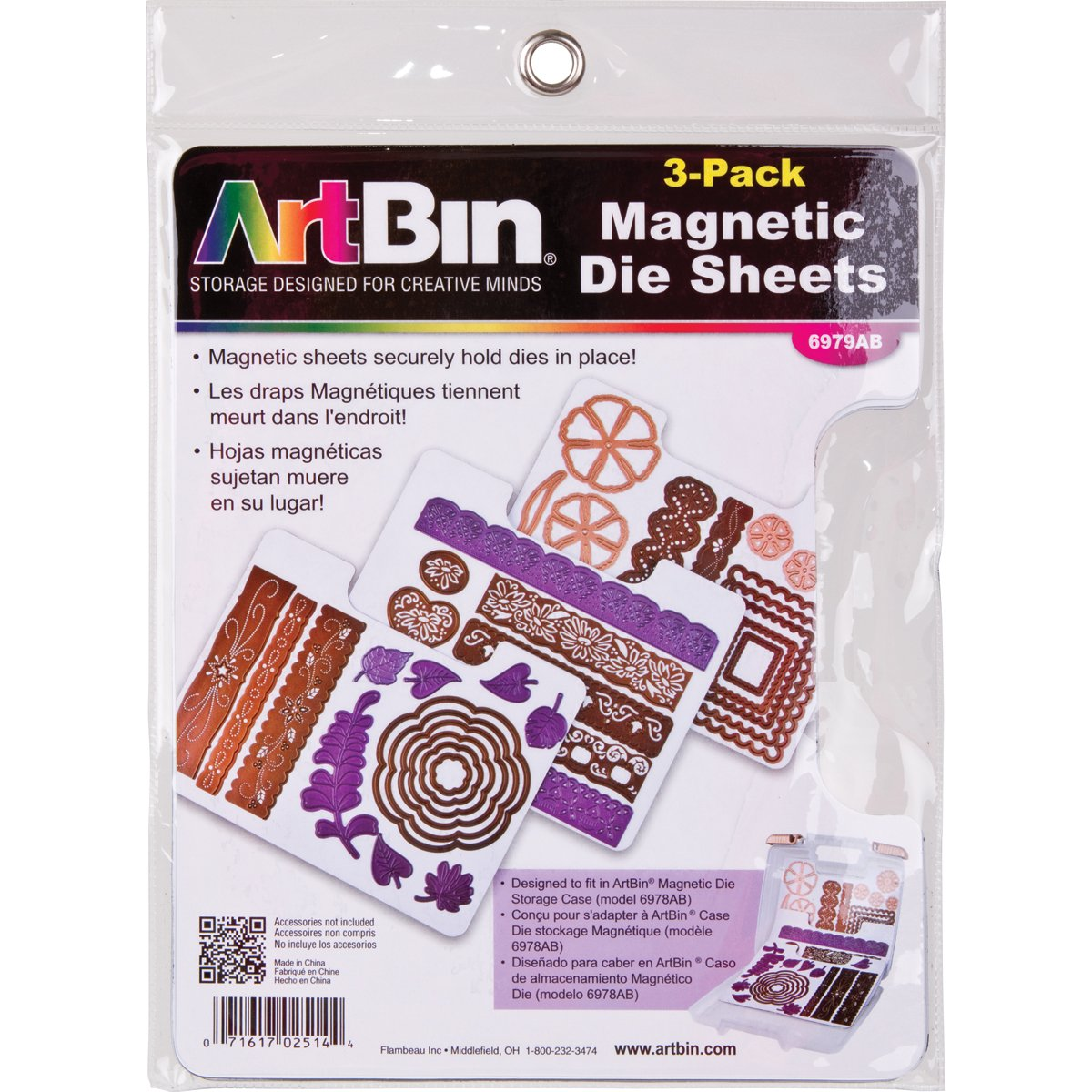 ArtBin Magnetic Die Sheets- 3/Pack 6979AB, refill for 6978AB