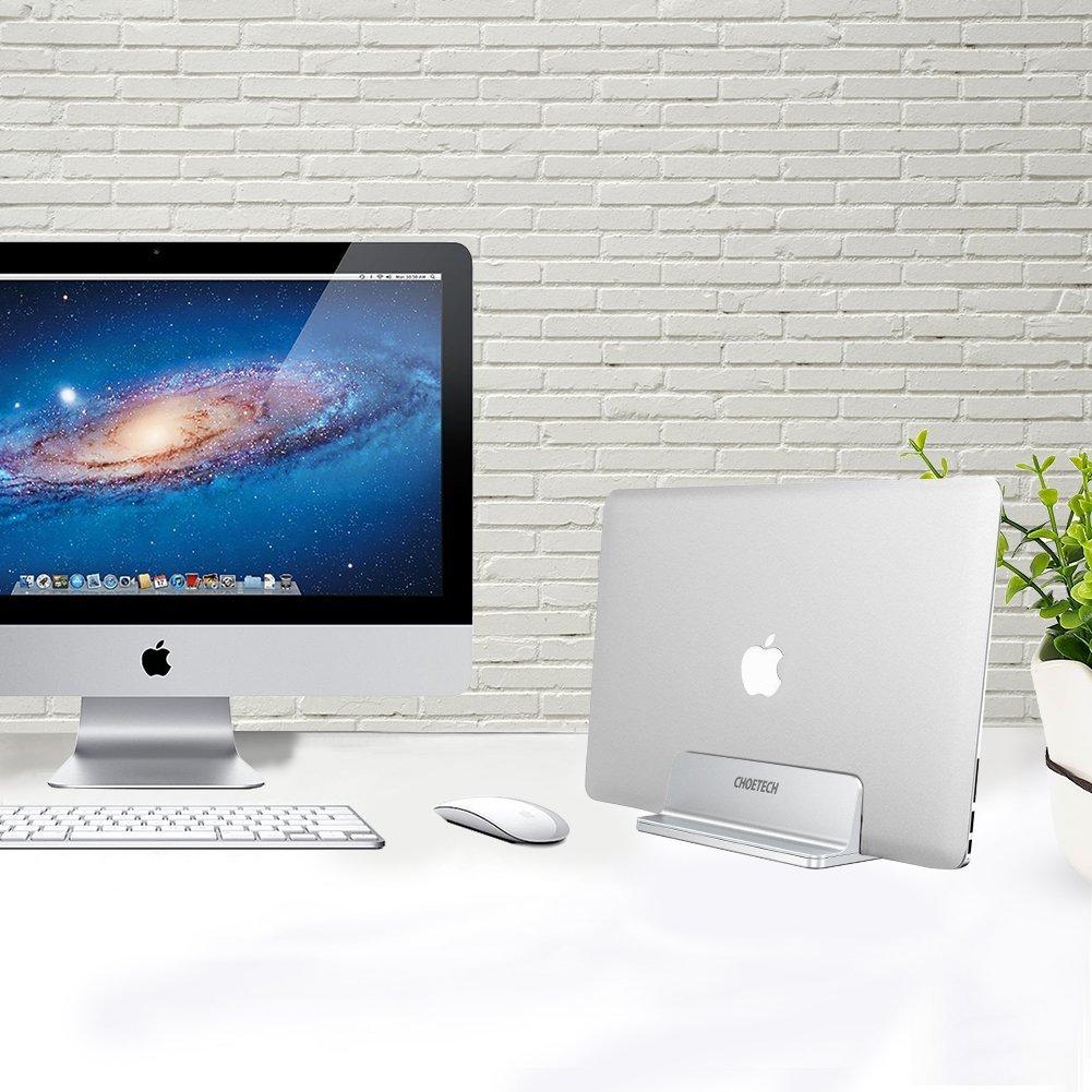 CHOETECH Soporte Vertical Portátil, Universal Movilble Soporte Laptop de Aluminio para Portátil MacBook, MacBook Pro, DELL XPS, Lenovo Yoga, ASUS ...