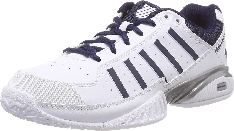 K-Swiss Performance KS Tfw Receiver IV Omni, Zapatillas de Tenis para Hombre, Blanco (White/Navy 37), 42.5 EU
