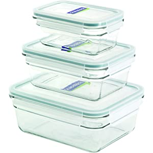 Glasslock 11339 6-Piece Rectangle Oven Safe Container Set