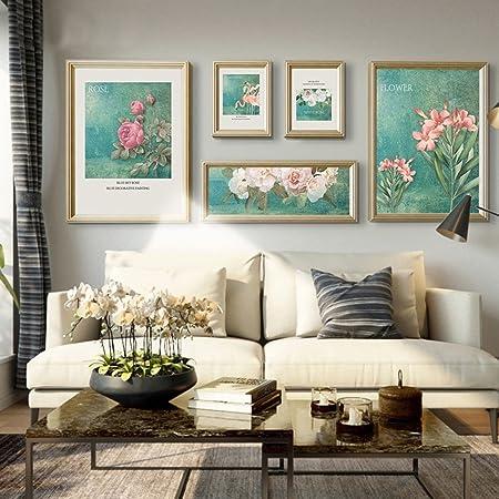 Cadre Décoratif Photo Mur Salon Canapé Fond Mur Combinaison