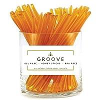 Groove Clover Honey Sticks | 50 Pack | All Natural - Local - Pure Clover Honey Stix...