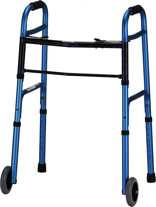 Amazon.com: Walker 5 inch plegable ruedas botón Dual ...