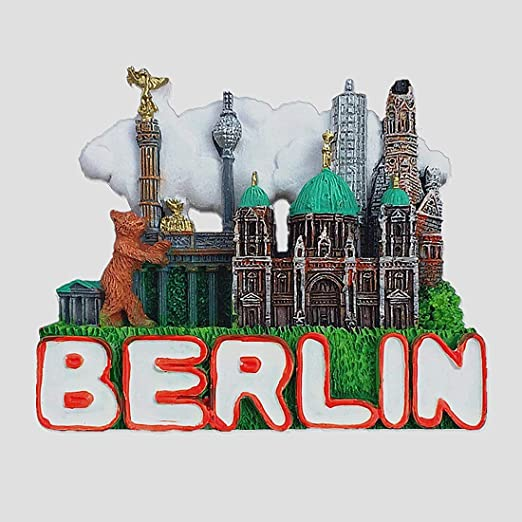 MUYU Magnet Imán para Nevera de Berlín en 3D, Diseño de Recuerdo ...