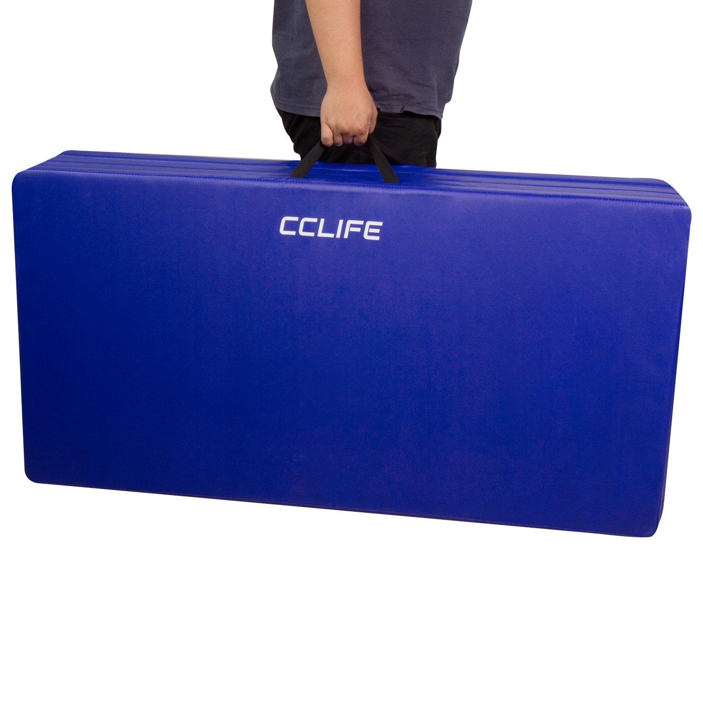 7518c38cc CCLIFE Colchoneta Plegable de Gimnasia y Colchoneta Yoga Colchoneta  Deportiva Yoga estrilla 5 Pliegues, Color:Azul: Amazon.es: Deportes y aire  libre