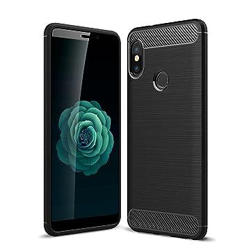 AROYI Funda Xiaomi Mi A2 Ngero, Carcasa Xiaomi Mi A2 Silicone Slim Soft TPU Antigolpes Back Bumper Protective Xiaomi Mi 6X Case Cover para Xiaomi Mi ...