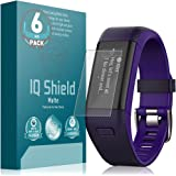 Garmin Vivosmart HR+ Screen Protector, IQ Shield Matte [6-Pack] Full Coverage Anti-Glare Screen Protector for Garmin Vivosmart HR+ [Garmin Approach X40] Bubble-Free Film - with