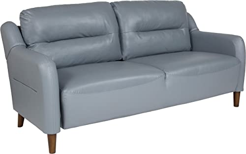 Flash Furniture Newton Hill Upholstered Bustle Back Sofa