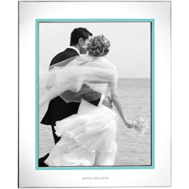 Kate Spade New York Take The Cake 8x10 Picture Frame, Silver-plated Metal and Aqua Enamel
