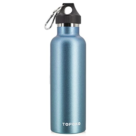 23311aa746 Buy TOPOKO 25 Oz Stainless Steel Water Bottle Single-Layer Sports Bottle  Flip Top Spout With Nylon Sleeve 2 Online at Low Prices in India - Amazon.in