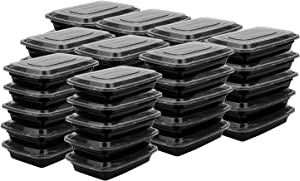 Suwimut 60 Pack Meal Prep Plastic Food Containers, Disposable Lunch Box Food Storage Containers with Lids for Freezer and Microwave Safe