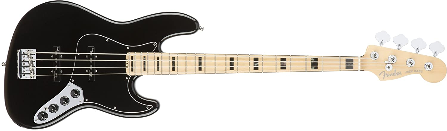Fender 0197002706 American Elite Jazz Bass arce diapasón guitarra eléctrica - color negro: Amazon.es: Instrumentos musicales
