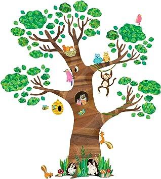 Decowall Dl 1709 Gigant Grosser Baum Waldtiere Tiere Wandtattoo Wandsticker Wandaufkleber Wanddeko Fur Wohnzimmer Schlafzimmer Kinderzimmer Amazon De Baumarkt