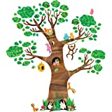 DECOWALL DL-1709 Giant Tree and Animals Kids Wall Decals Wall Stickers Peel and Stick Removable Wall Stickers for Kids…