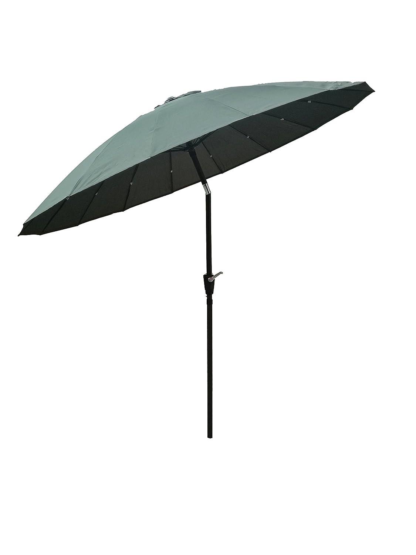 Garden Parasol Cover Green Umbrella with Crank / Tilt / with 16 Fibre Glass Ribs 2.7m Bespoke Worker Ltd