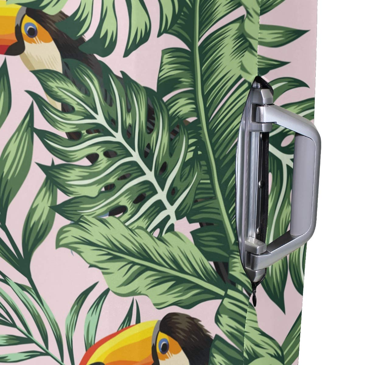 Baggage Covers Tropical Green Jungle Palm Hummingbird Washable Protective Case