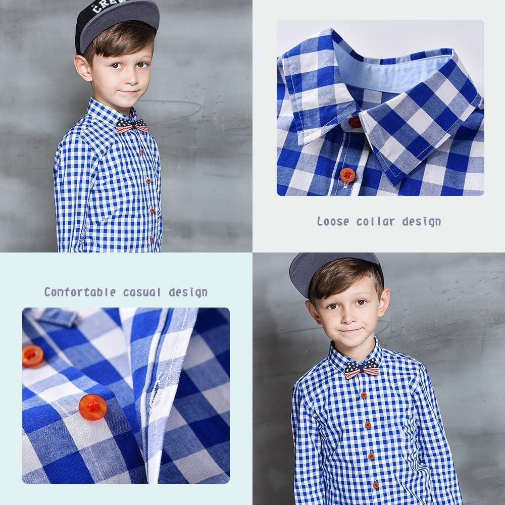Hosen 4Pcs Kleinkind Jungen Kinder Gentleman Outfit Anzug Hosentr/äger Fliege Yilaku Baby Jungen Kleidung Kariertes Hemd